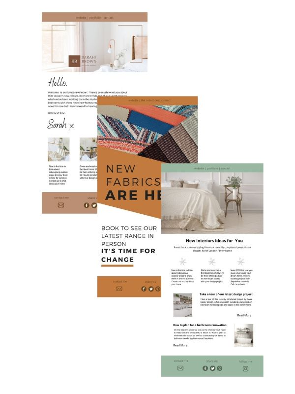 Email marketing for interior designers
