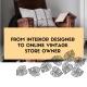online vintage store interior designer
