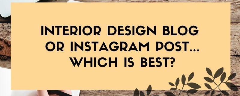 Interior Design blogs and instagram