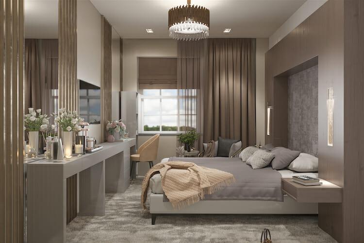 3D Bedroom Design by Anna K Studio