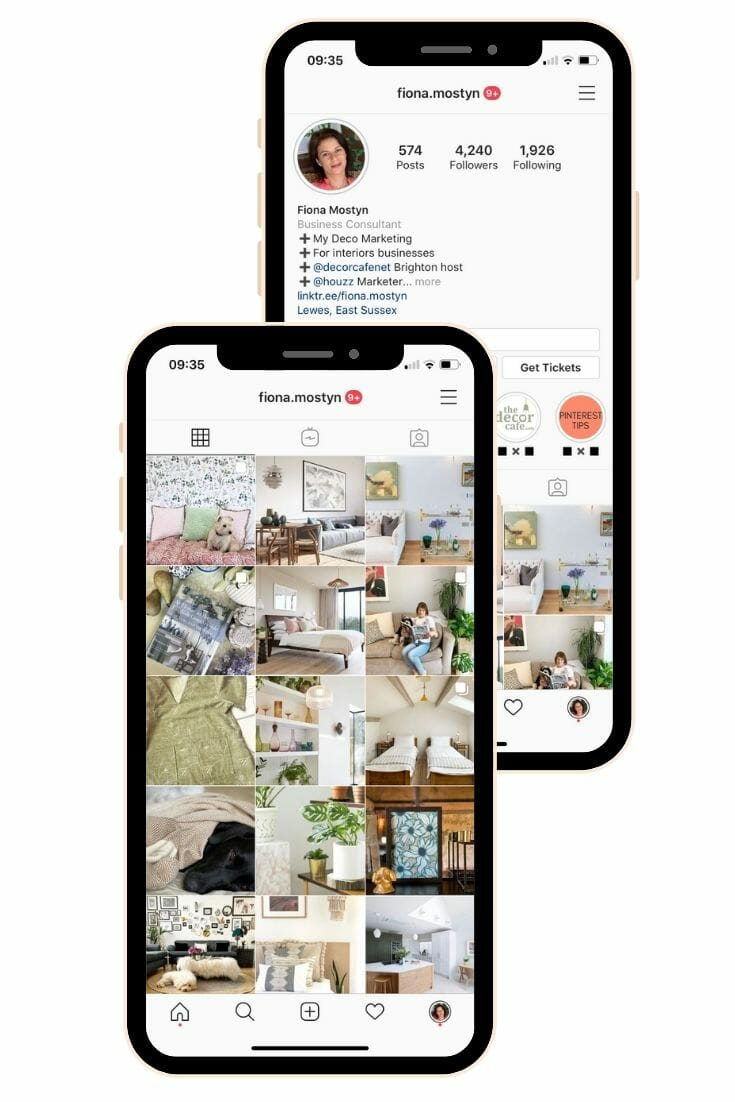 Instagram marketing tips for interior design businesses