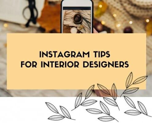 Instagram tips for interior designers