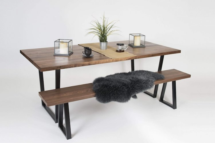 Walnut dining table by Grain and Frame